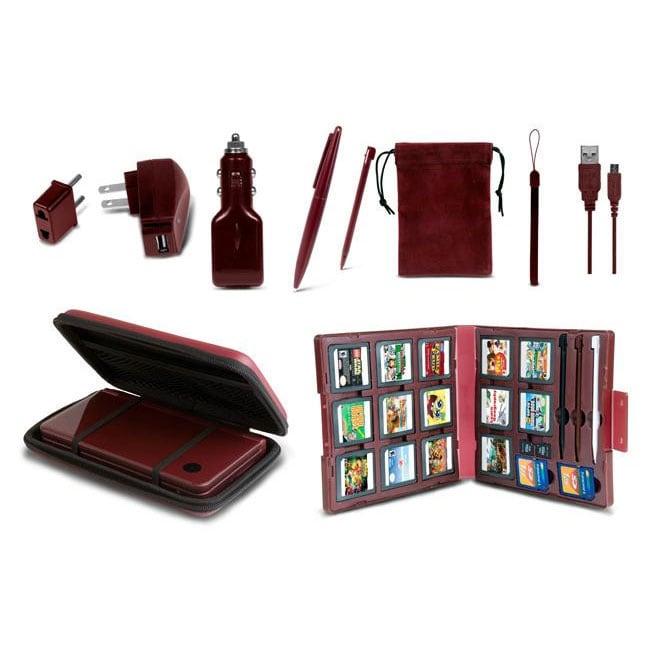 11 in 1 Starter Kit for DSi XL - Wine Red