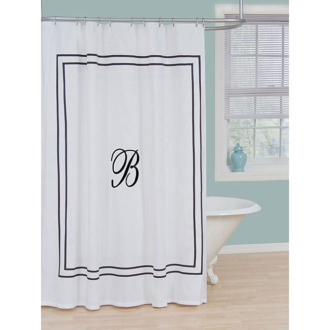 monogram polyester shower curtain 13278398 shopping
