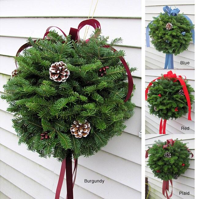 Fresh Balsam Kissing Ball Wreath