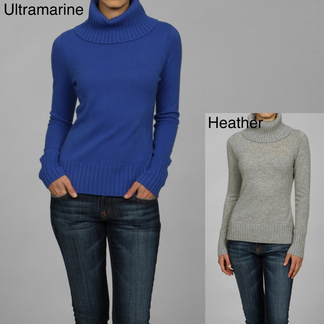 In Cashmere Women's Wide Turtleneck Cashmere Sweater
