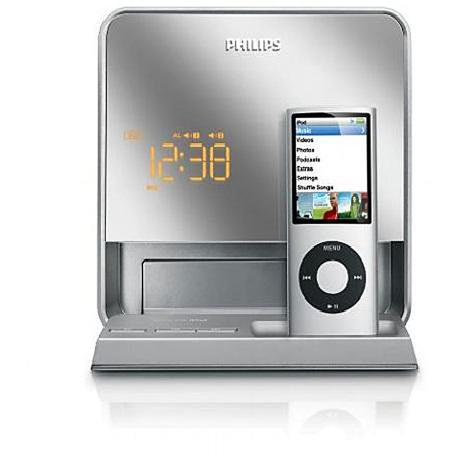 philips dc190b 37 digital fm dual alarm clock radio ipod dock refurbished 13284242. Black Bedroom Furniture Sets. Home Design Ideas