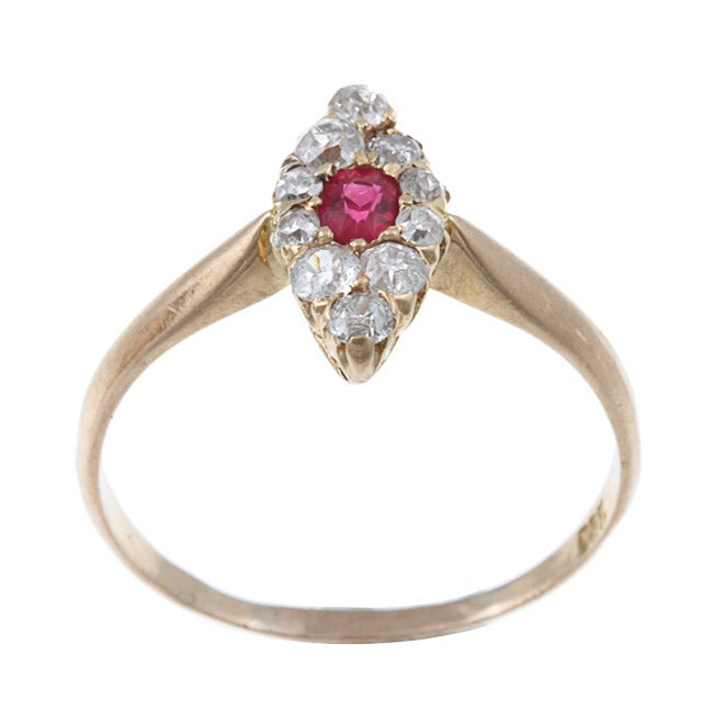14k Gold 1/2ct TDW Diamond and Ruby Estate Ring (I-J, SI1-SI2)
