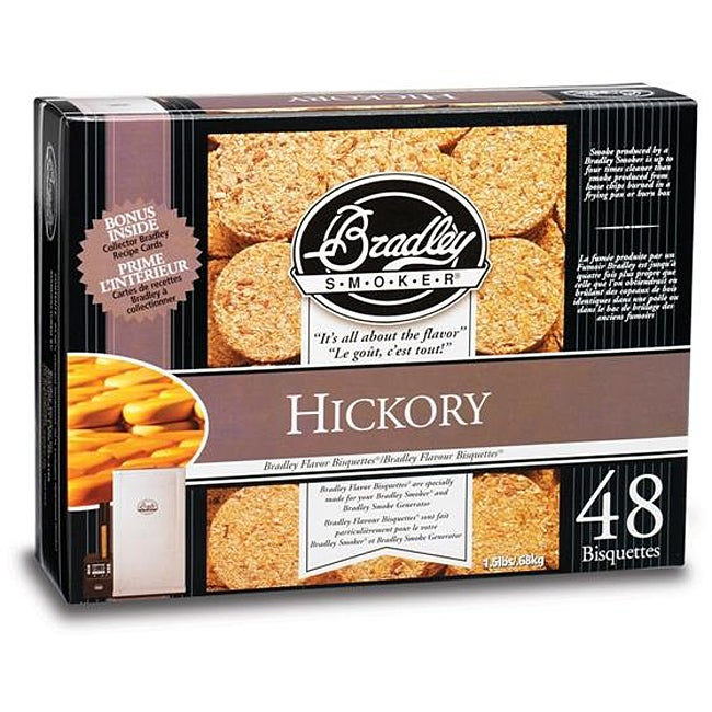 Bradley Smoker Hickory Bisquettes (Case of 48)