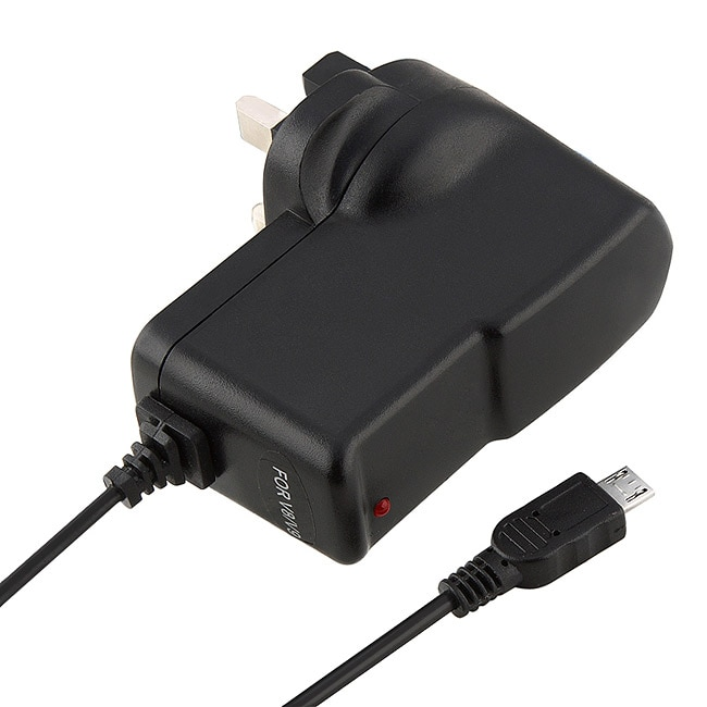 INSTEN Black Micro USB UK Travel Charger for Samsung T959 Vibrant