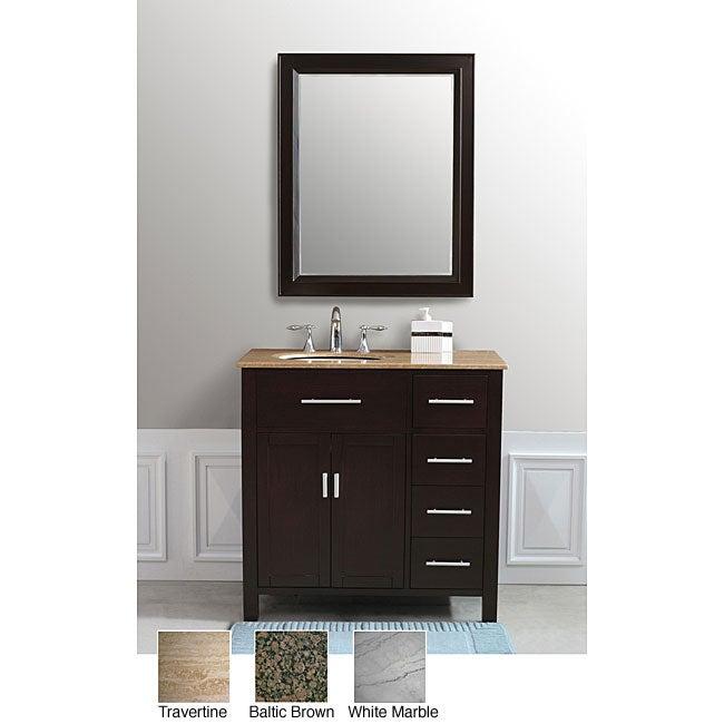 Rome 36-inch Espresso Single-sink Bathroom Vanity