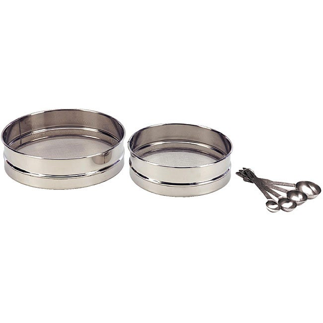 Stainless Steel 6-piece Set with Sieves and Measuring Spoons