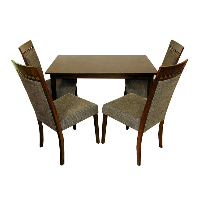 Warehouse of Tiffany 5-piece Olive Dining Furniture Set