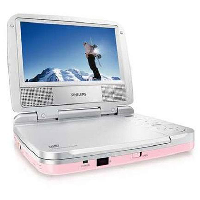Philips PET702P 7-inch Pink DVD Player (Refurbished)
