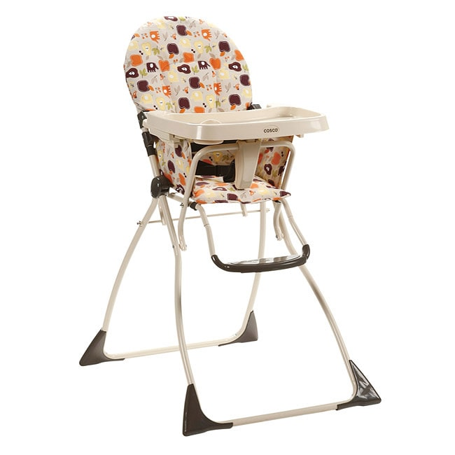 Cosco Flat Fold High Chair in Fruity Jungle Overstock Shoppi