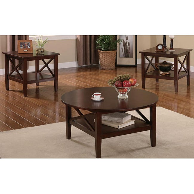 Ashley Coffee End Tables: Ashley 3-piece Coffee Table Set