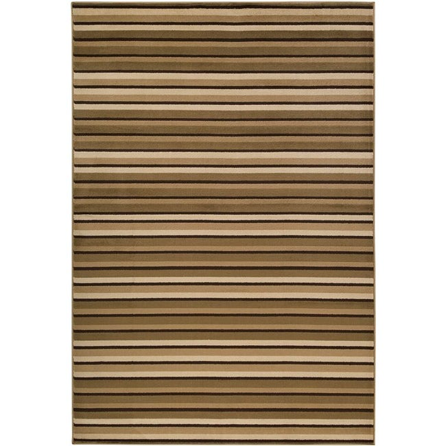 AT HOME by O Loomed Free-form Tan Rug (5'3 x 7'6) at Sears.com