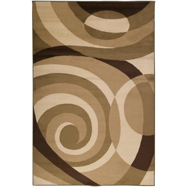 Loomed Stella Smith Chocolate Geometric Rug (5'3 x 7'6)