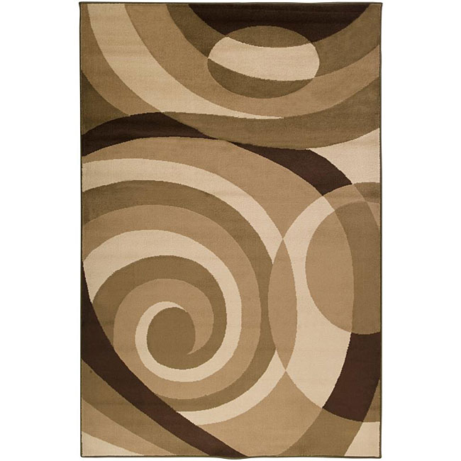 Loomed Stella Smith Chocolate Geometric Rug (7'9 x 11'2)