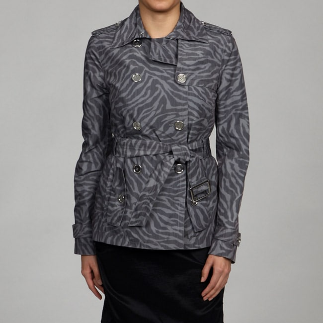 Nine West Women's Double-breasted Short Trench Coat