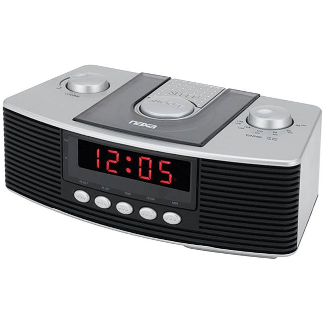 naxa digital alarm clock with am fm radio snooze 13319036 shopping top. Black Bedroom Furniture Sets. Home Design Ideas