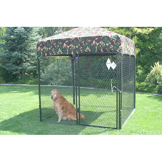 Heavy-duty 6x6-ft Dog Run Kennel Kit