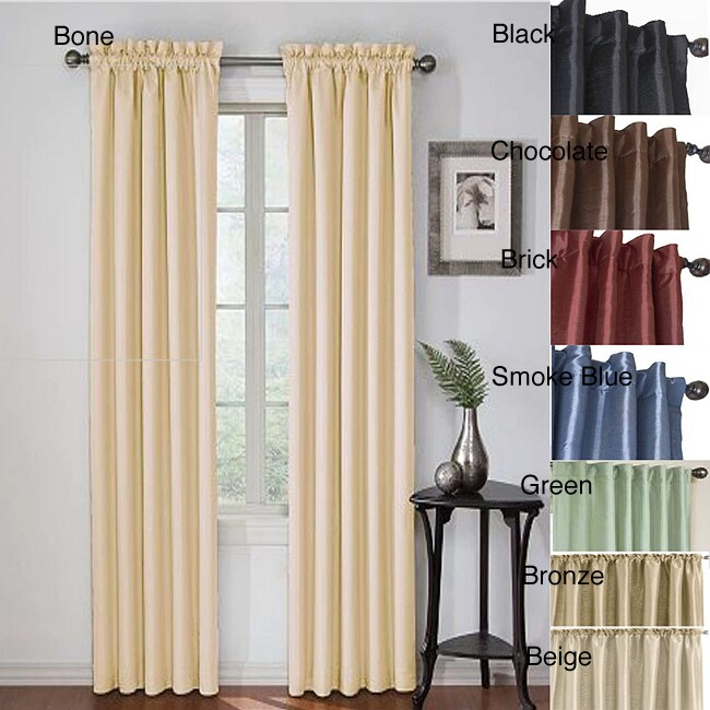 Insulated Faux Silk 84-inch Blackout Panel Pair