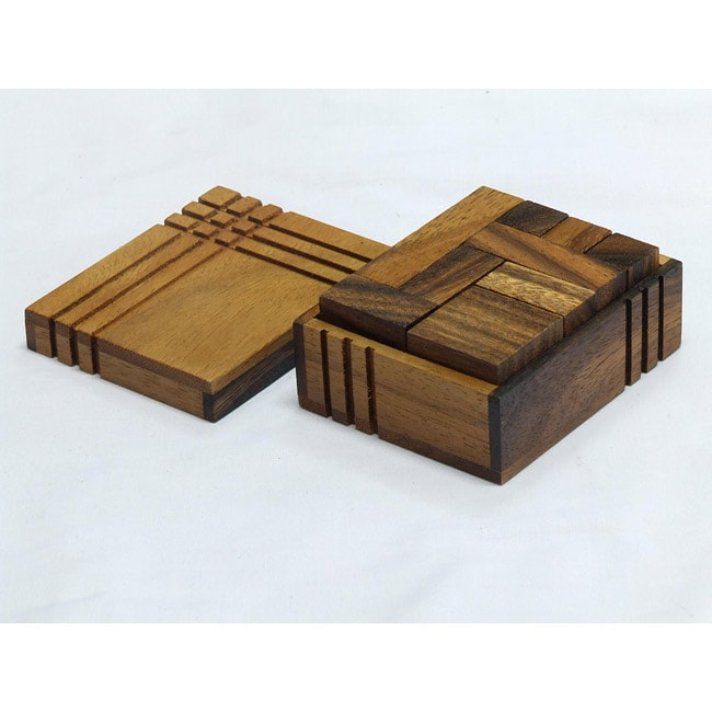 Wood Travel-size Box Challenge Puzzle Game (Thailand)