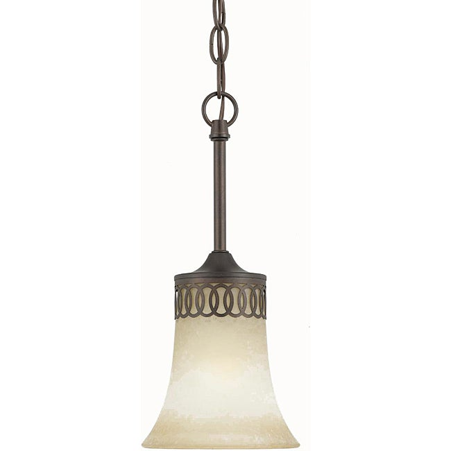 Energy Star 1 light English Bronze Mini Pendant Light