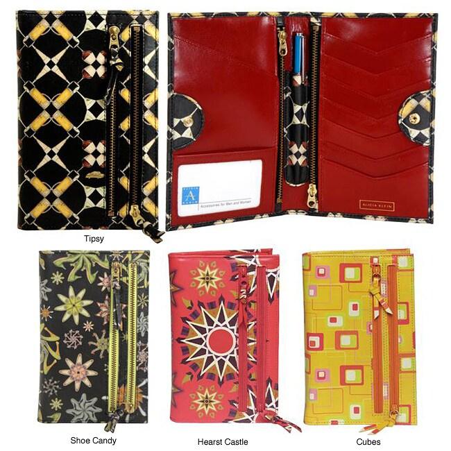 Alicia Klein Women's Imagery Leather Bi-fold Wallet