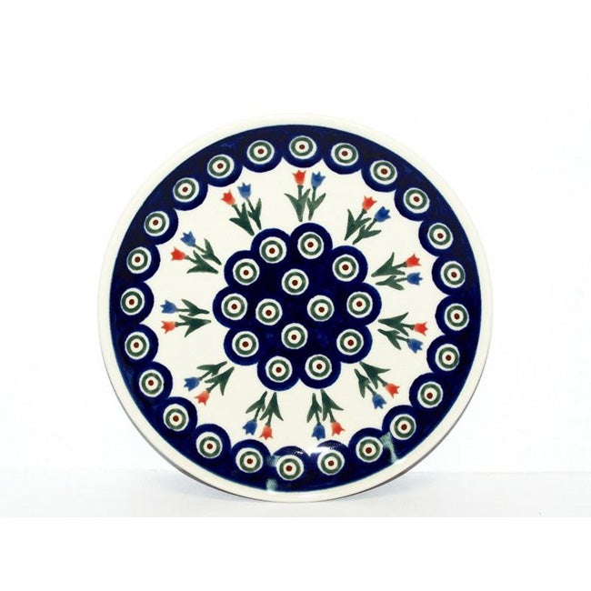 Ceramic Stoneware Blue and White 8-inch Salad Plate (Poland)