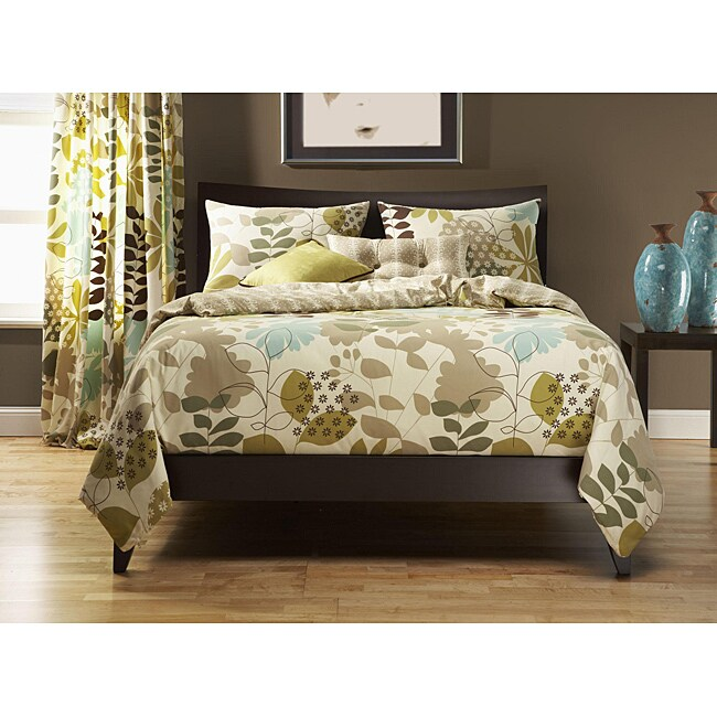 English Garden 6-pc Queen-size Duvet Cover and Insert Set