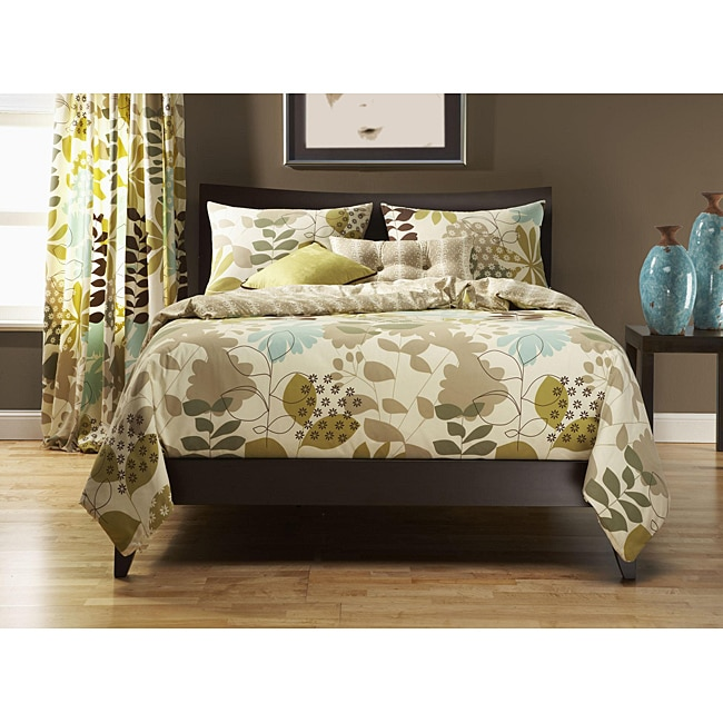 English Garden 6-pc California King Duvet Cover and Insert Set
