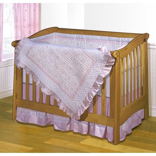 Pretty Chic 4-piece Patchwork Crib Bedding Set