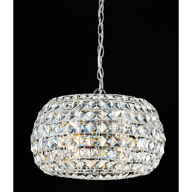 Indoor 3-light Crystal Lantern Chandelier