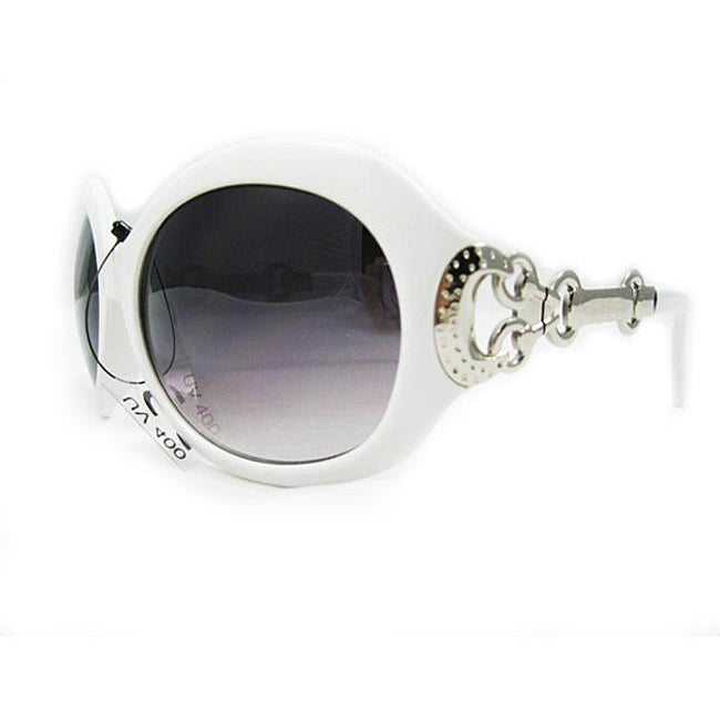 Women's 2905 White Round Sunglasses