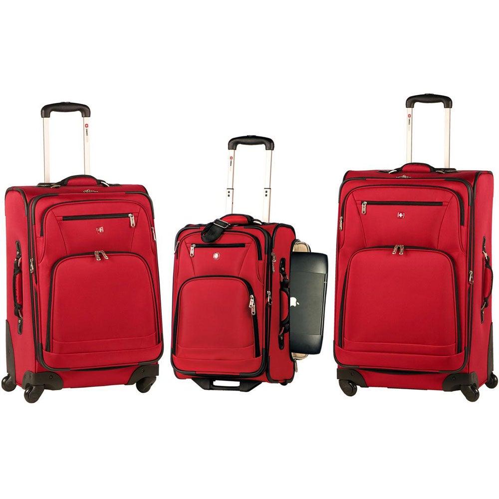 Swiss gear 3 piece spinner luggage set kmart