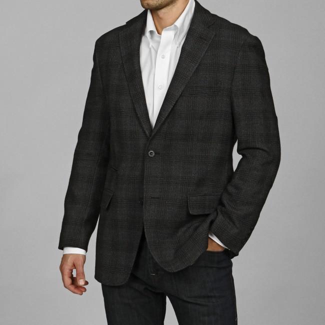 U&I Men's Charcoal Wool Two-button Sportcoat