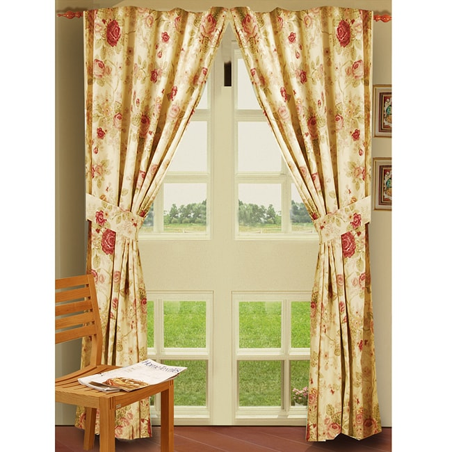 Greenland Home Fashions Antique Rose 84-inch Curtain Panel
