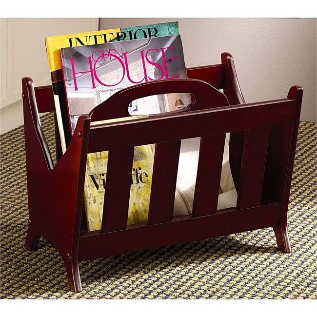 Hawaiian Cherry Magazine Storage Rack