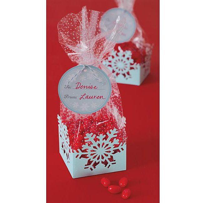 Martha Stewart Snowflake Cello Treat Bags (Pack of 8)