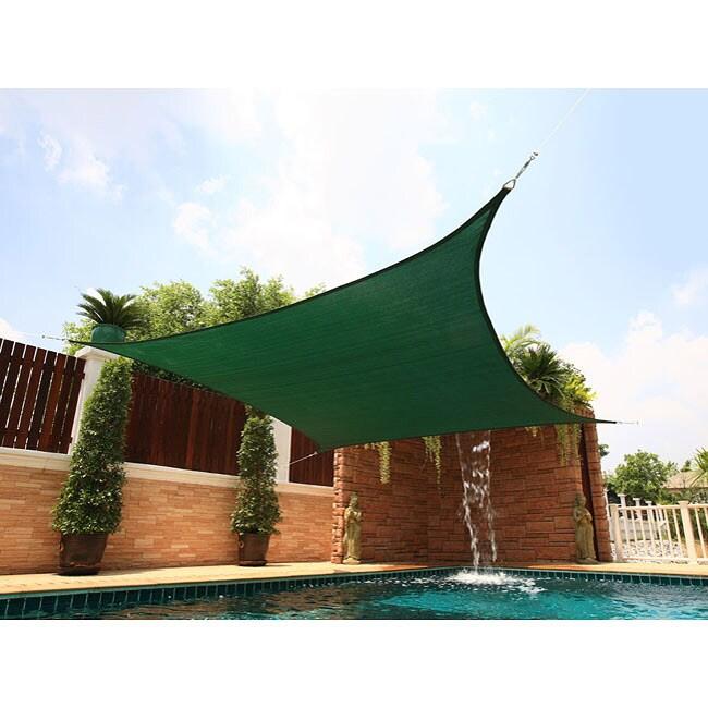 Medium Square Green Sail Sun Shade