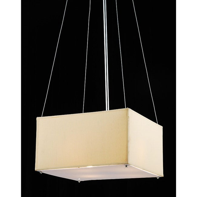 Square 4-light Chrome Chandelier