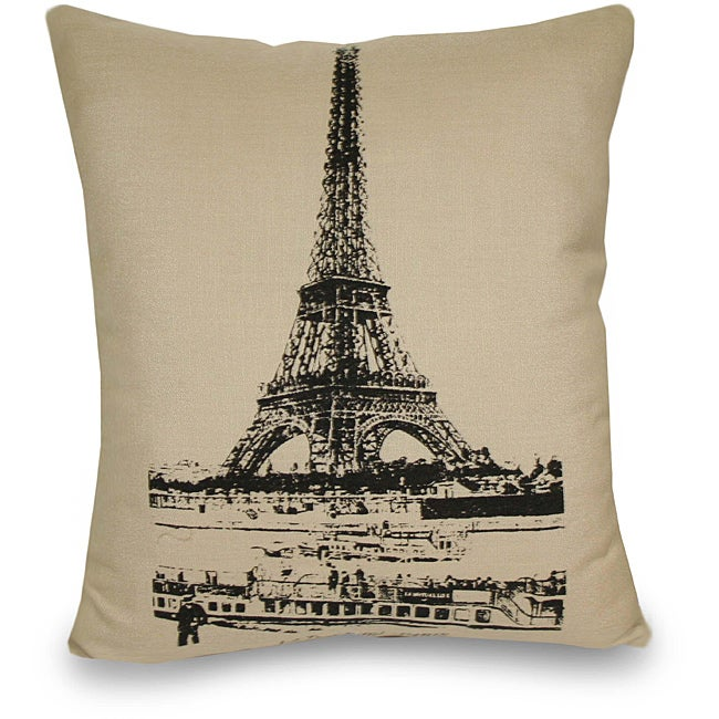 Decorative Pillows Eiffel Tower : Eiffel Tower Decorative Pillow - 13360691 - Overstock.com Shopping - Great Deals on Thro Throw ...