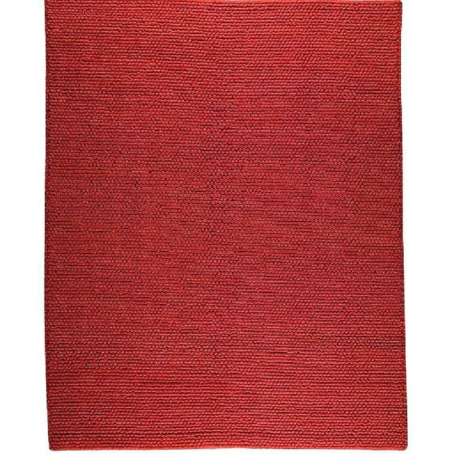 M.A.Trading Hand-woven Ladhak Dark Orange Wool Rug (8'3 x 11'6)