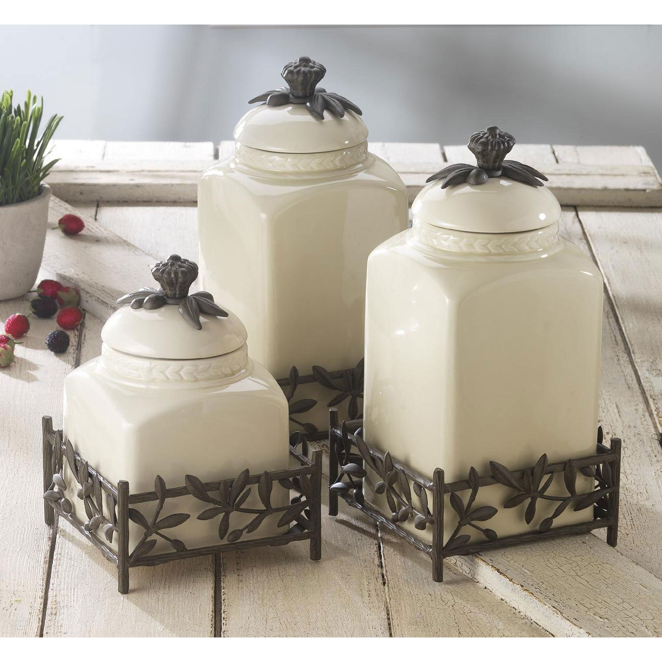 American Atelier Oliveto 3-piece Canister Set - 13368457 ...