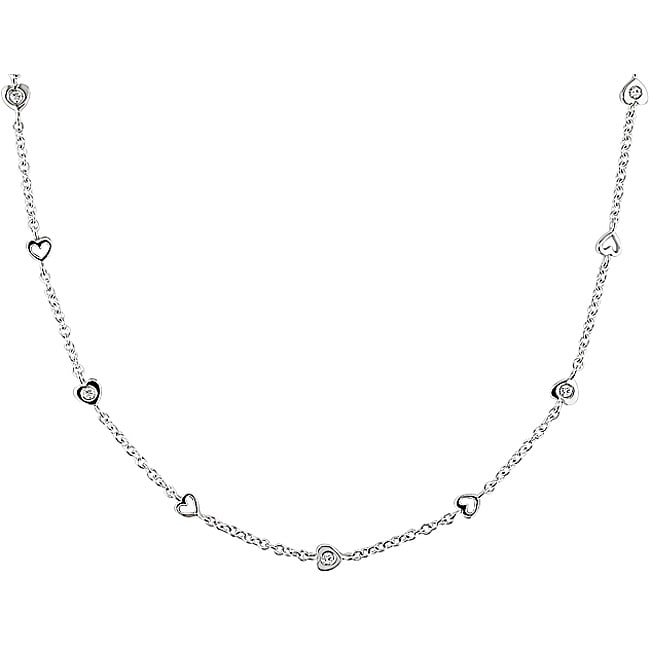 Miadora 18k White Gold 1/2ct TDW Diamond Necklace (G-H, SI1-SI2)