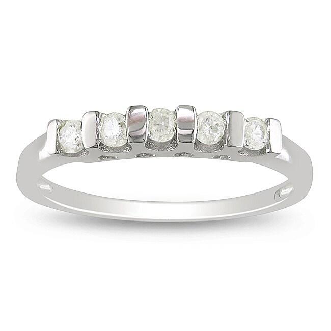 Sterling Silver 1/4ct TDW Diamond Anniversary Ring (H-I, I3)