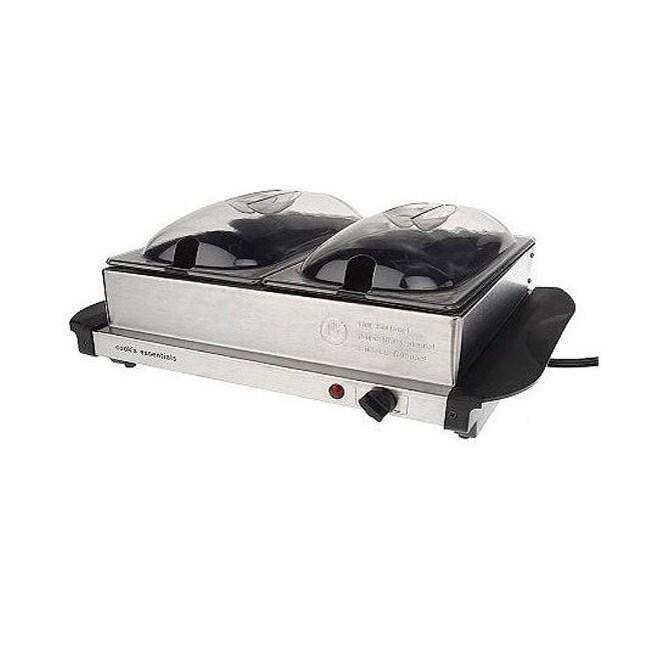 Cook's Essentials K17389 Stainless Steel 5-quart Nonstick Buffet Server w/ Warming Tray (Refurbished)