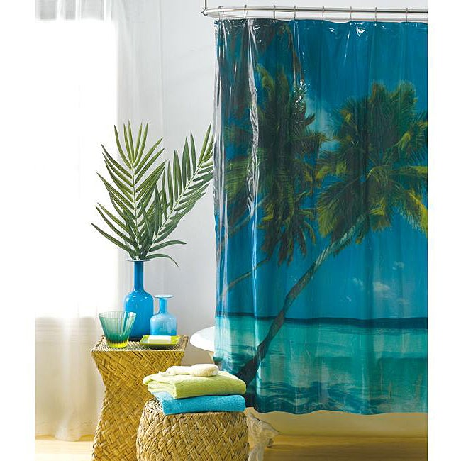 Tropical Landscape Photoreal Vinyl Shower Curtain 13372710 Shopping Great