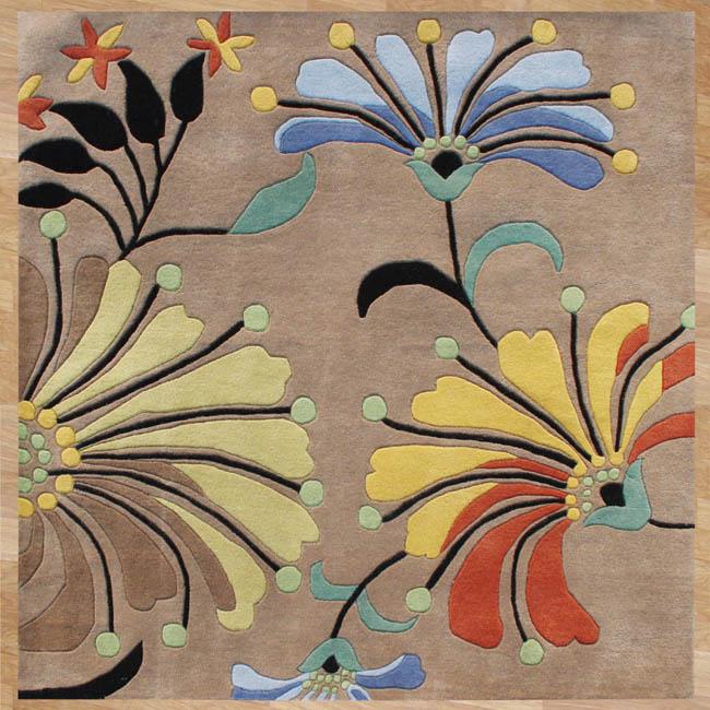 Hand-tufted Metro Beige Wool Rug (8' x 8')