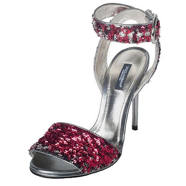 Dolce & Gabbana Women's Pink Sequin High Heels