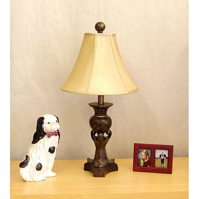 Indoor 1-light Burl Font Table Lamp
