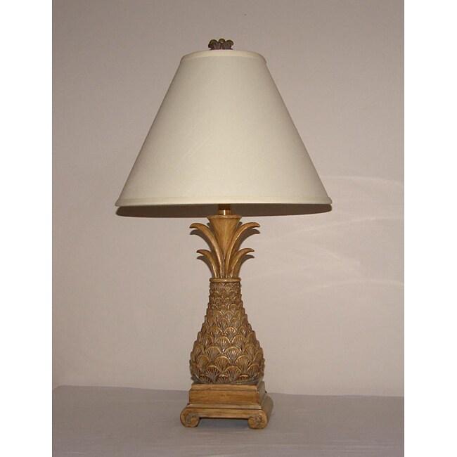 Oval Pineapple 1-light Table Lamp