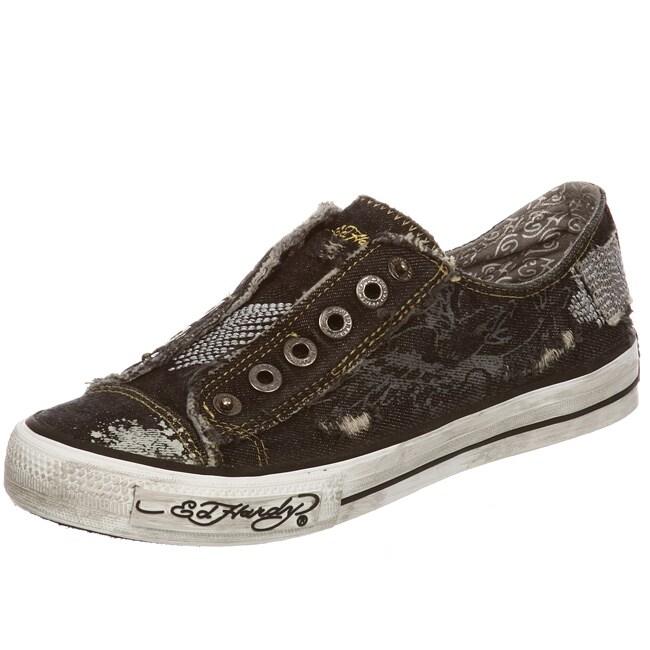 Ed Hardy Women's 'Danette' Lowrise Denim Sneakers