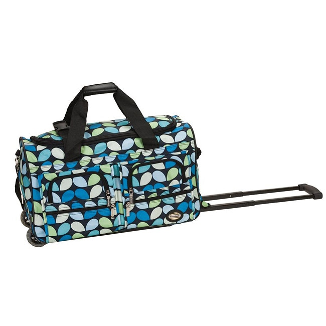 Rockland Deluxe 22-in Leaf Pattern Carry On Rolling Upright Duffel Bag at Sears.com